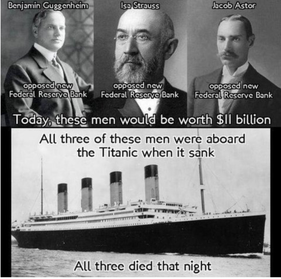 3 men murdered by the Titanic conspiracy