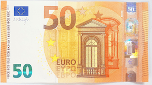 Euro bank note