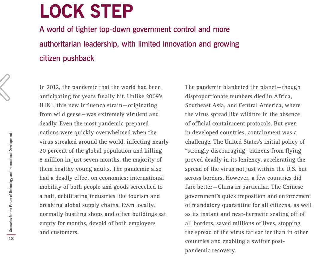 Rockefeller Lockstep scenario